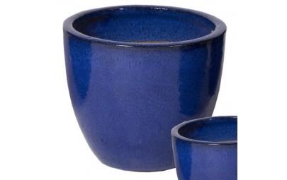 Donica Glazed Egg Pot niebieska D41/H33