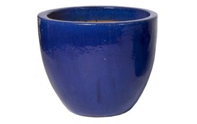 Donica Glazed Egg Pot niebieska D60/H52