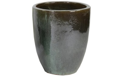 Donica Glazed Egg Vase Moss zielona D45/H54