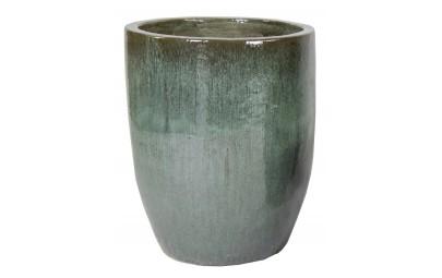 Donica Glazed Egg Vase Moss zielona D54/H67