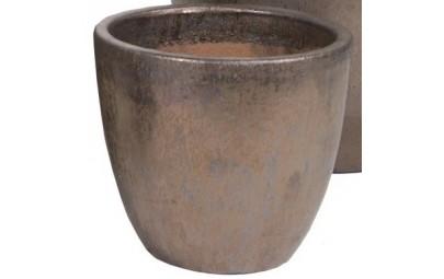 Donica Glazed Egg Pot brąz D331/H25
