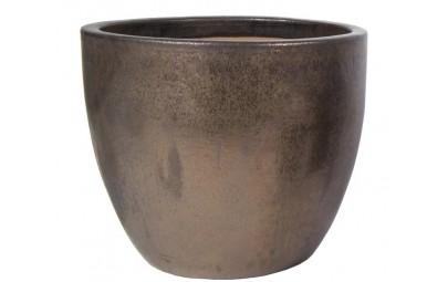 Donica Glazed Egg Pot brąz D60/H52