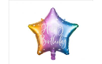 Balon foliowy Happy Birthday mix 40cm