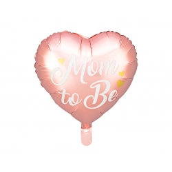 Balon foliowy Mom to Be różowy 35cm