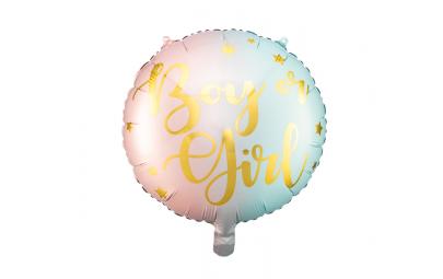 Balon foliowy Boy or Girl mix 35cm