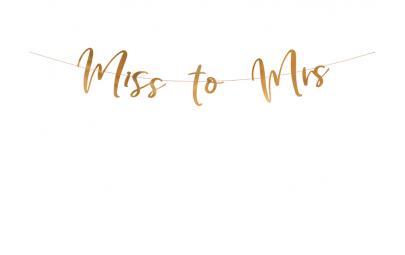Baner Miss to Mrs różowe...