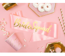 Szarfa Bride squad jasny różowy