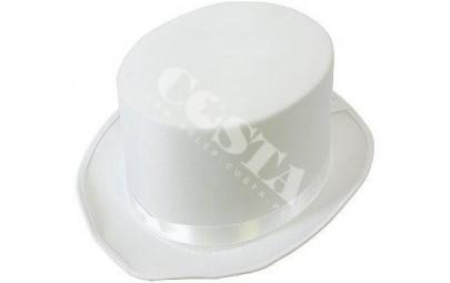Cylinder biały gładki 24x30cm