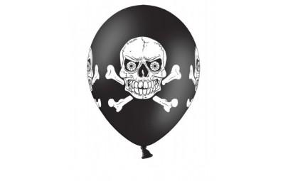 Balon 12 czaszka pastel 50 szt