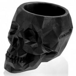 Doniczka czaszka 21x15x15cm czarna matowa