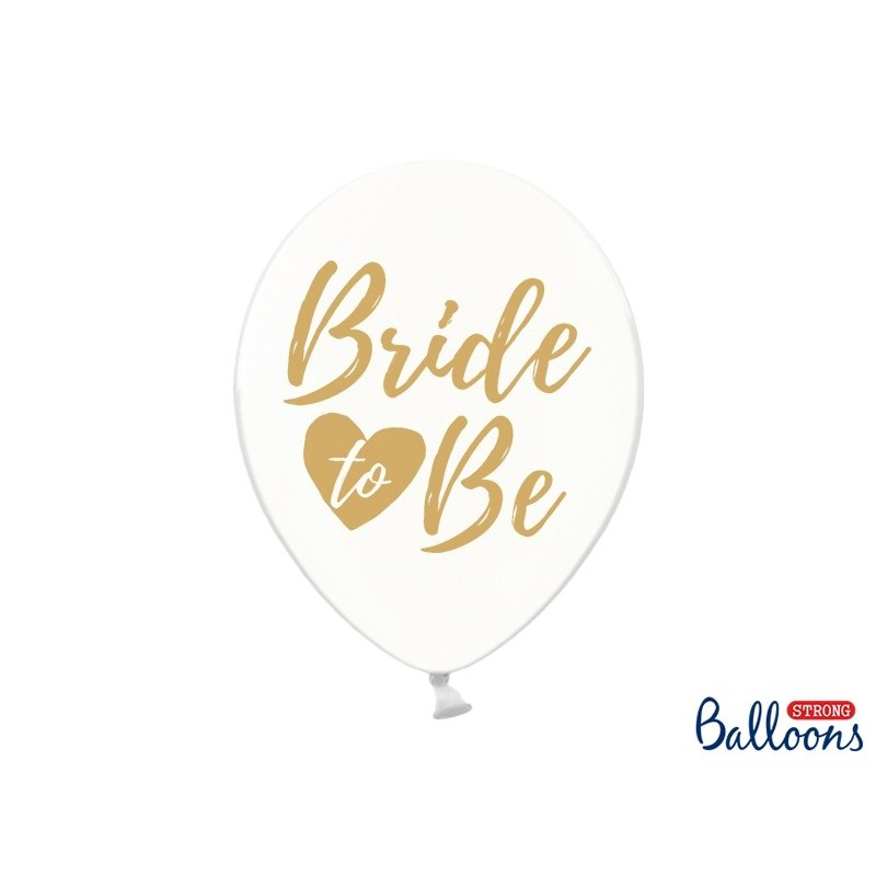 Balony 30cm Bride to be crystal clear 50szt