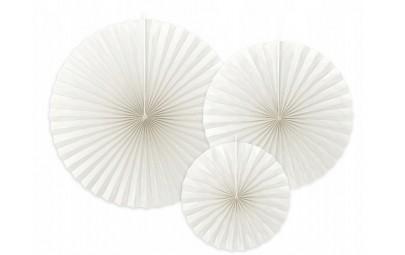 Rozeta dekoracyjna złamana biel 3 szt. (23cm, 32cm, 40cm)