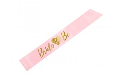 Szarfa Bride To Be różowa 75cm
