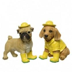 Pies w kaloszach żółtych duży
