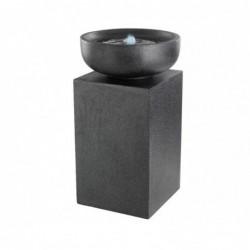 Fontanna misa na kolumnie czarna z podświetleniem led 48x83,5cm