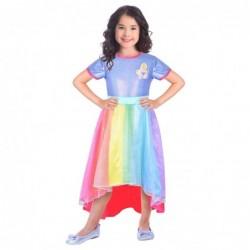 Strój dla dzieci Barbie Rainbow Cowe dla 5-7latki(sukienka)