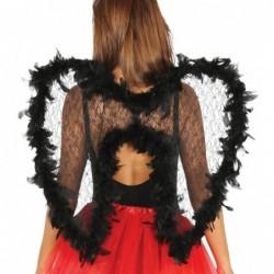 Skrzydła anioła z koronką czarne 55x70cm