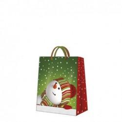 Torba ozdobna Merry Snowman 30x41x12cm