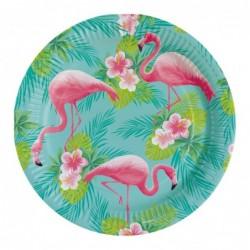 Talerz papierowy Flamingo...