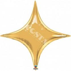 Balon foliowy 40 gwiazda złota