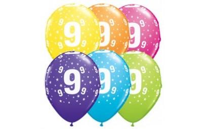 Balon 11 9 urodziny 6 szt.