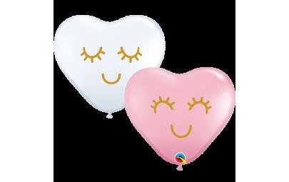 Balon 11' serce różowo...