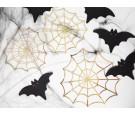 Dekoracje papierowe złote pajęczyny 3szt