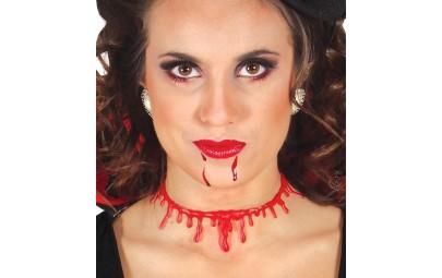 Naszyjnik krwawy podcięte...