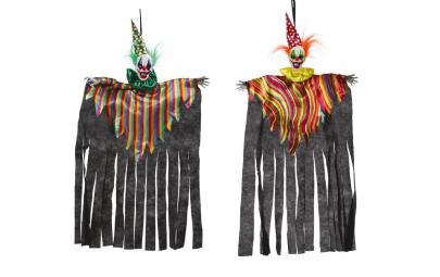 Clown czarny wiszący 75 cm