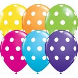 Balon 11 big polka dots 6 szt.
