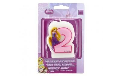 Świeczka cyfra 2 princess...