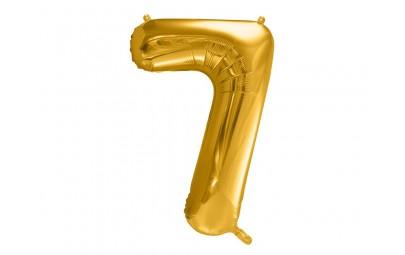 Balon foliowy 34 cyfra 7 złota