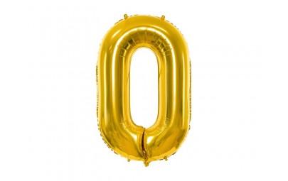 Balon foliowy 34 cyfra 0 złota