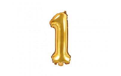 Balon foliowy 14 cyfra 1 złota