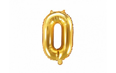 Balon foliowy 14 cyfra 0 złota