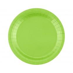 Talerz papierowy zielony 18cm 20szt