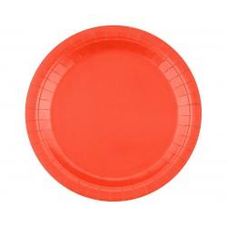 Talerz papierowy czerwony 18cm