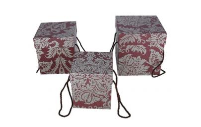 flowerbox secesja bordowo zloty 16,5x16,5x17,5cm
