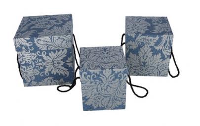 flowerbox secesja niebieski 19x19x19