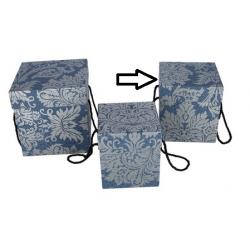 Flowerbox niebieski secesja 16,5x16,5xx17,5cm