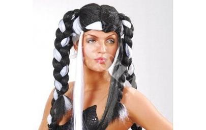 Gotycka peruka z warkoczami