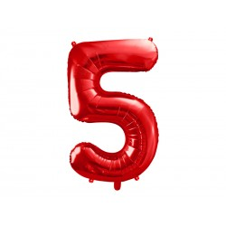 """Balon foliowy 34"""" cyfra 5..."""
