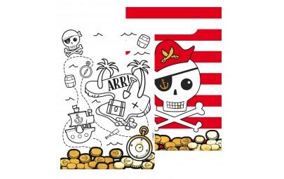 Torebka papierowa Mapa Piratów 8szt