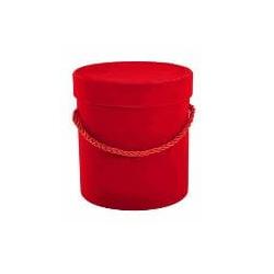 flowerbox welur czerwony