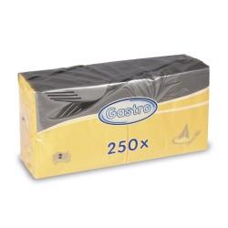 Serwetka 2-warstwowa 33 x 33cm żółta 250szt