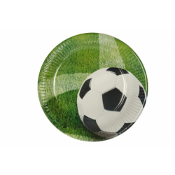 Talerz papierowy Football 23cm 10 szt. art.81637