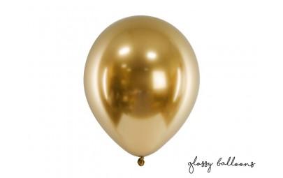Balon Glossy złoty 30cm 50szt