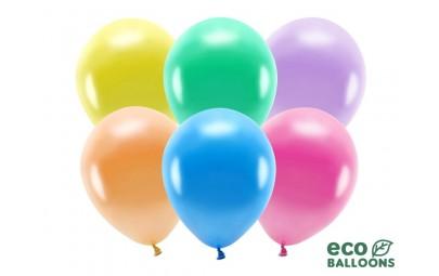Balon eco 26cm metalizowany mix 100szt