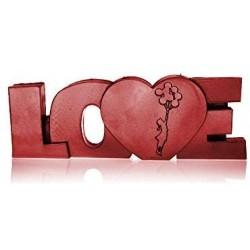 Świeca LOVE czerwona 160x60x420mm