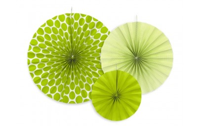 Rozety dekoracyjne zielone...